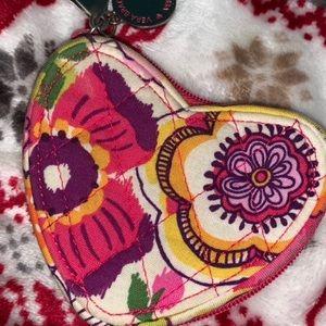 vera bradley heart shaped coin purse